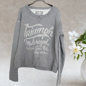 TRIUMPH BY LUCKY BRAND DISTRESSED SWEAT SHIRT